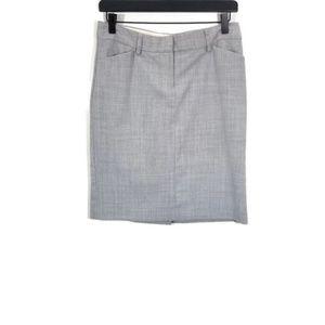 Express Light Grey Pencil Skirt Size 4